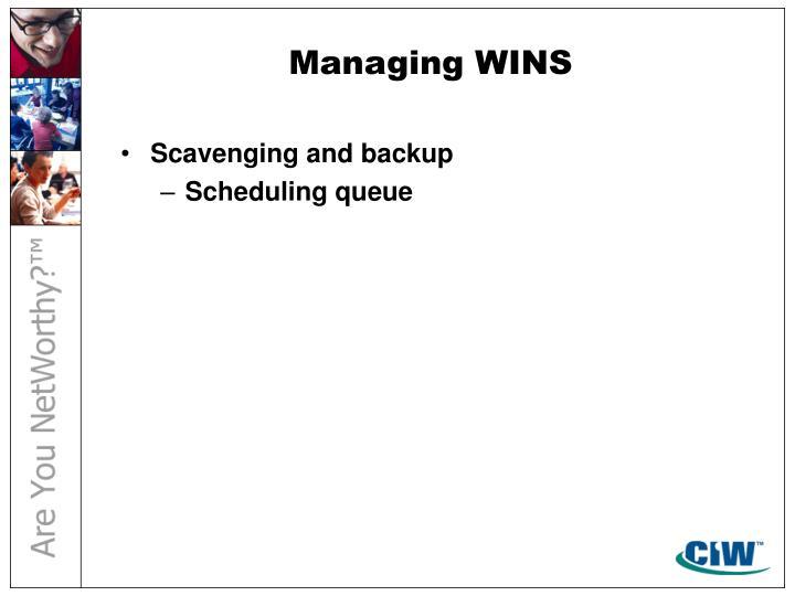 Managing WINS