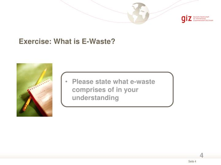 Exercise: What is E-Waste?