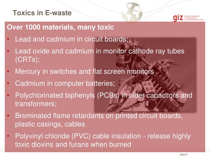 Toxics in E-waste
