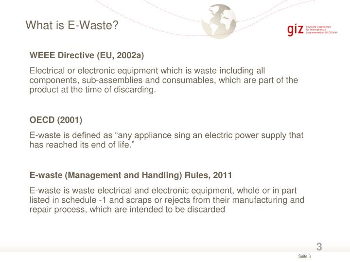 What is e waste1