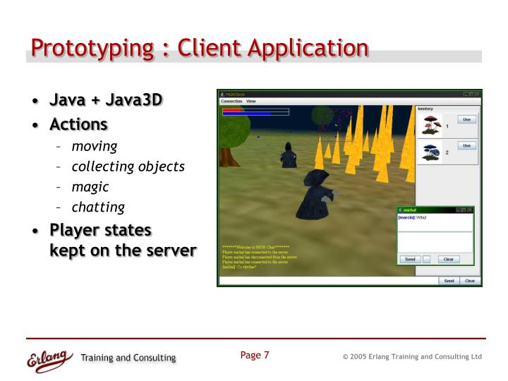Prototyping : Client Application