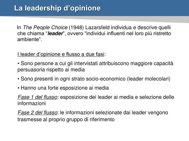 La leadership d'opinione