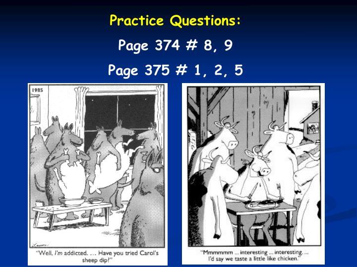 Practice Questions: