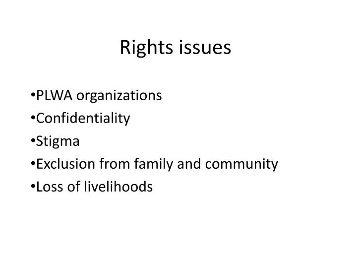 Rights issues