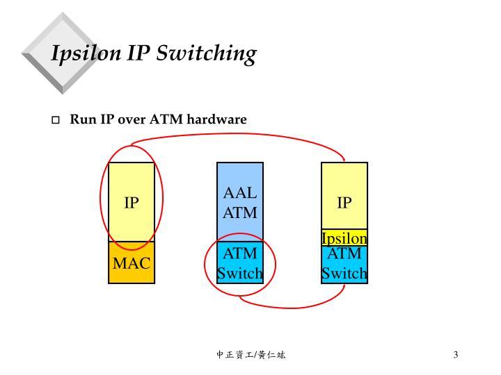 Ipsilon ip switching
