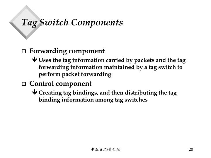 Tag Switch Components