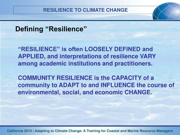 "Defining ""Resilience"""