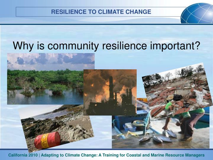 Why is community resilience important?