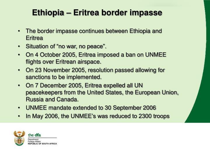 Ethiopia eritrea border impasse