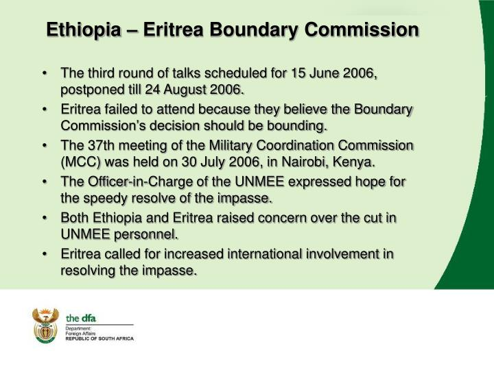 Ethiopia – Eritrea Boundary Commission