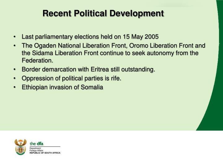 Recent Political Development