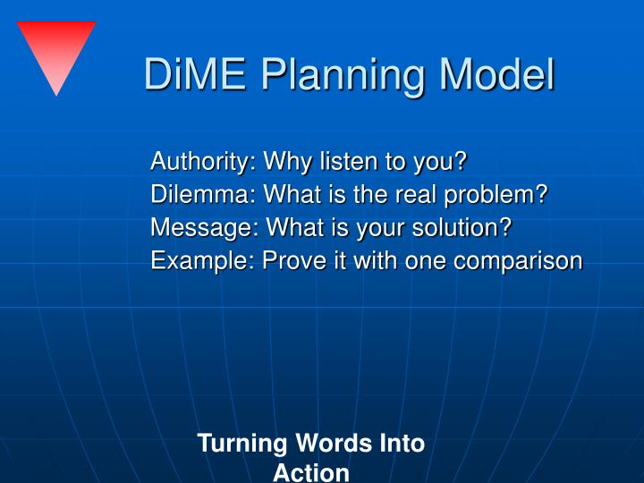 DiME Planning Model
