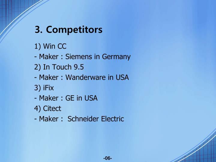 3. Competitors
