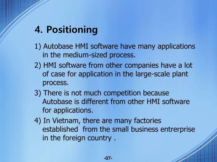 4. Positioning