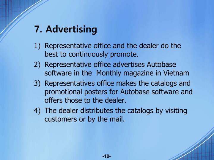 7. Advertising