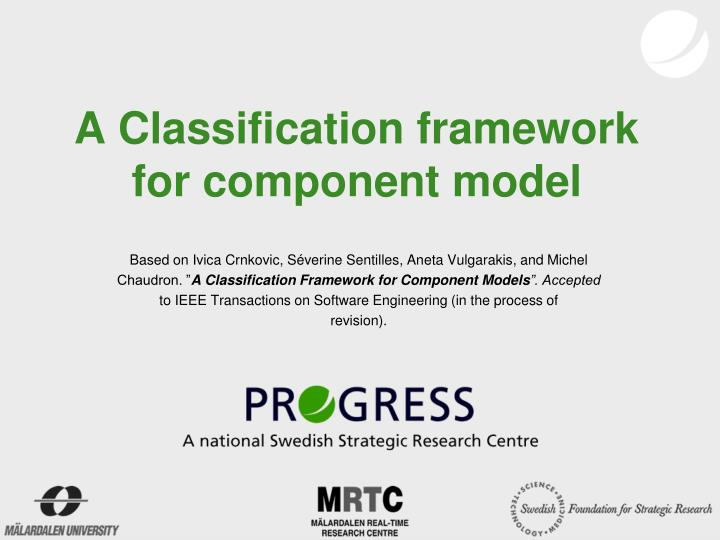 A Classification framework for component model