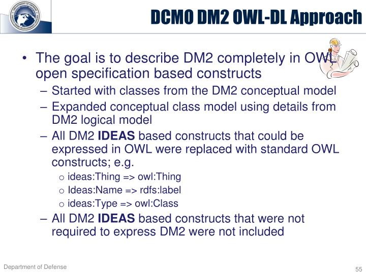 DCMO DM2 OWL-DL Approach