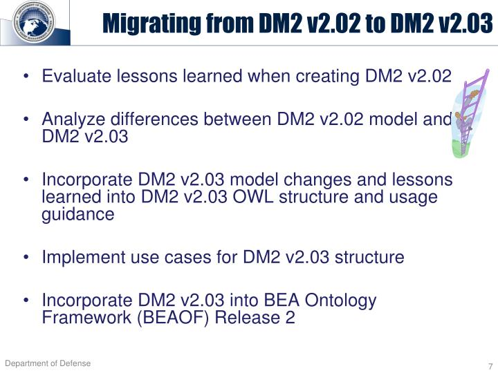 Migrating from DM2 v2.02 to DM2 v2.03