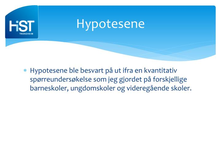 Hypotesene