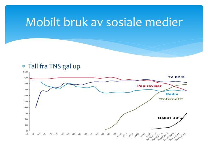 Mobilt bruk av sosiale medier