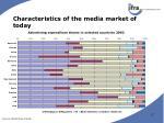 characteristics of the media market of today