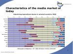 characteristics of the media market of today1
