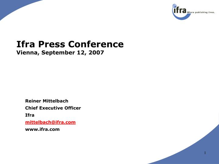 ifra press conference vienna september 12 2007