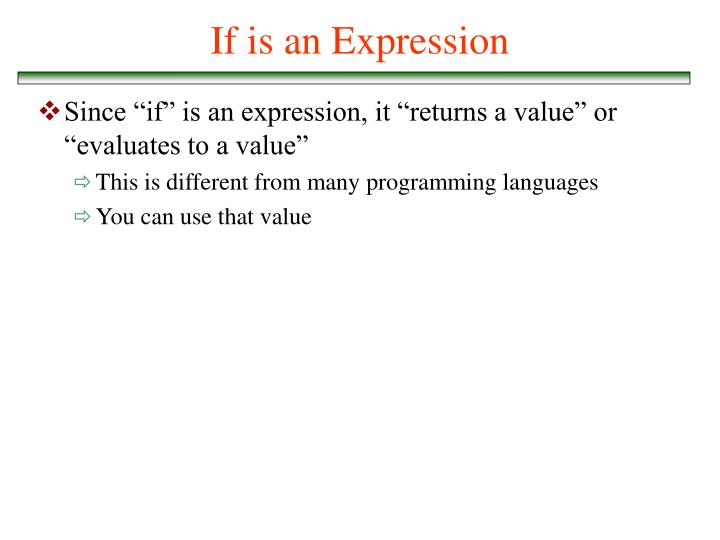 If is an Expression