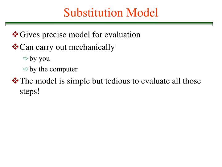 Substitution Model