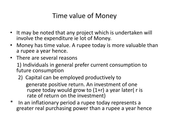time value of money n.