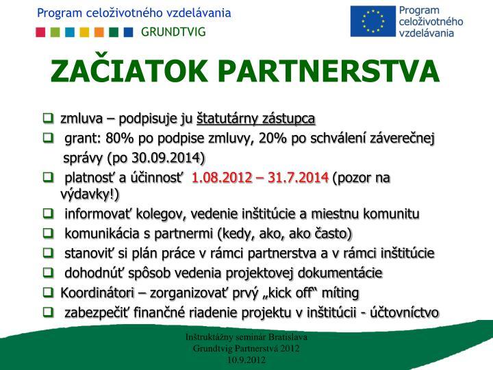 Za iatok partnerstva