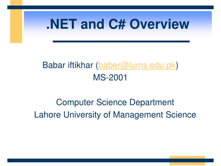 net and c overview n.