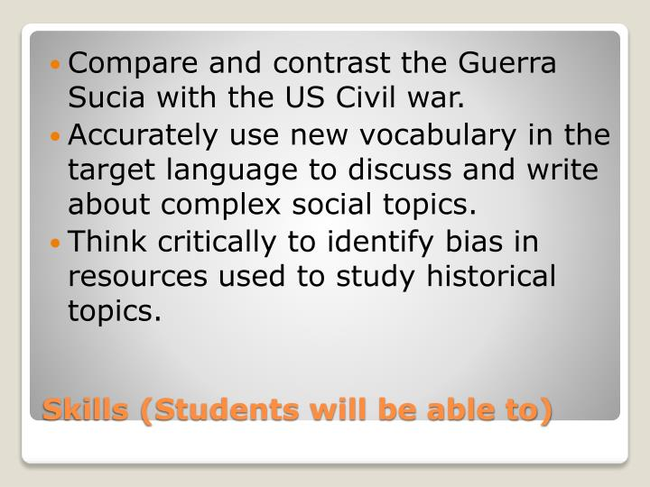 Compare and contrast the Guerra