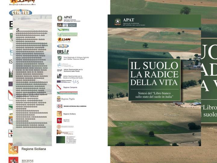 SIAS - Sviluppo di indicatori ambientali sul suolo in Italia