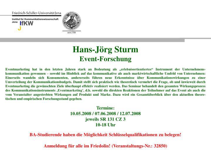 Hans-Jörg Sturm