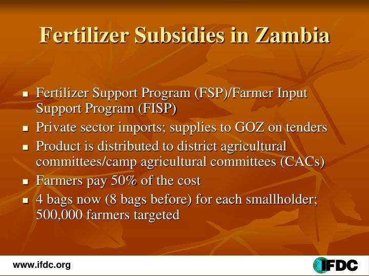 Fertilizer Subsidies in Zambia