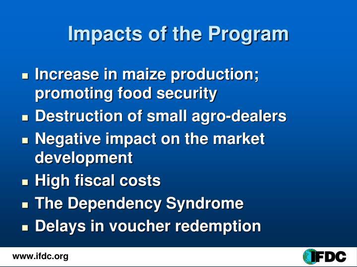 Impacts of the Program