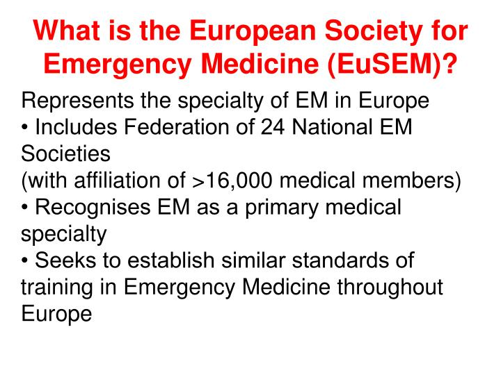 What is the European Society for