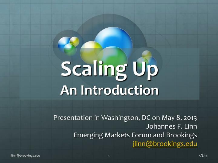 Scaling up an introduction
