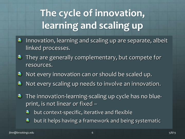 The cycle of innovation,