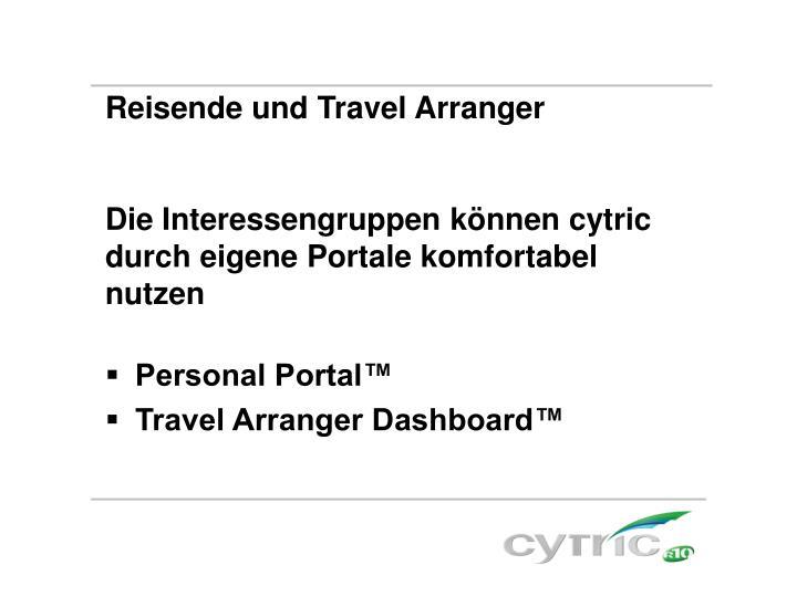 Reisende und Travel Arranger