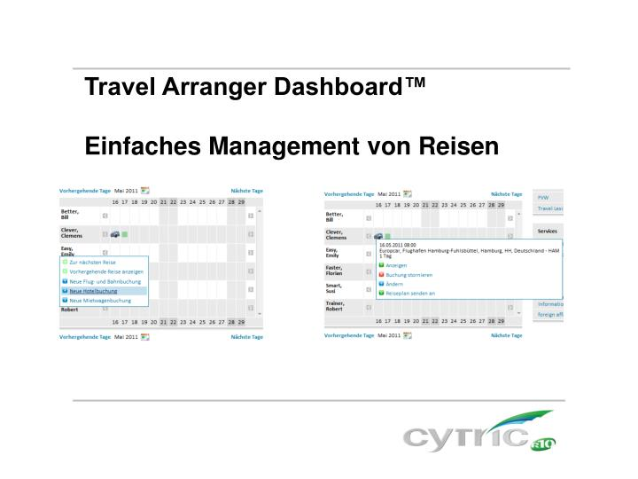 Travel Arranger Dashboard™
