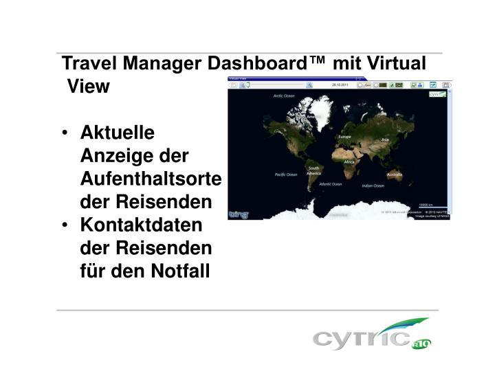 Travel Manager Dashboard™ mit Virtual