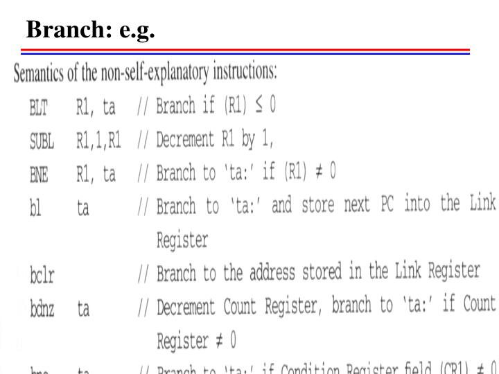 Branch: e.g.