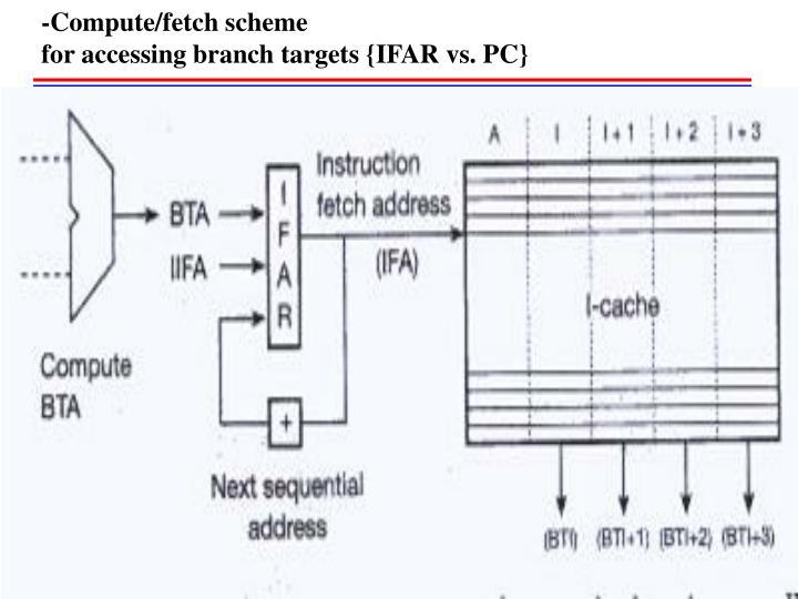 -Compute/fetch scheme