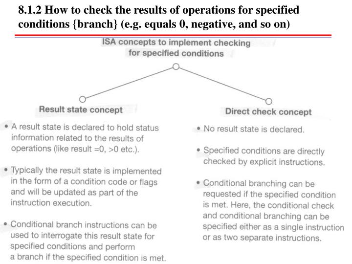 8.1.2 How to check the results of operations for specified conditions {branch} (e.g. equals 0, negative, and so on)
