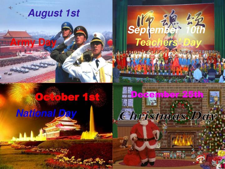 August 1st