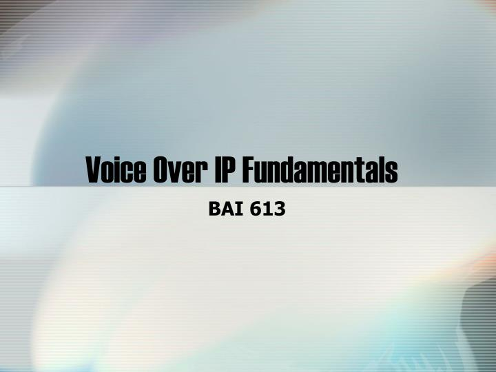 voice over ip fundamentals n.