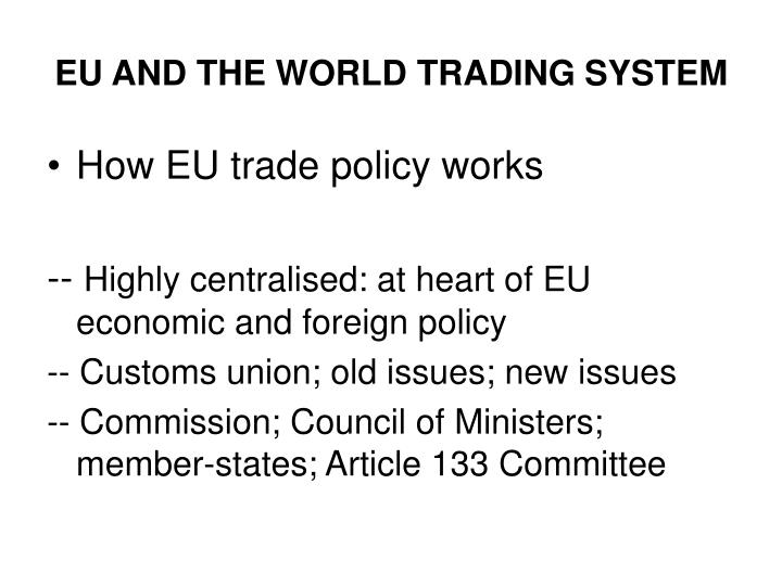 European trading system