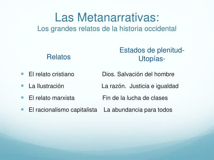 Las Metanarrativas: